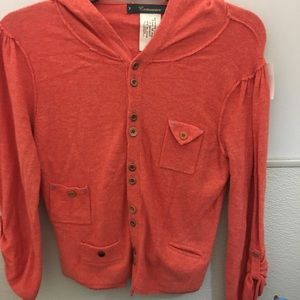 Anthropologie Cartonnier orange cashmere blend